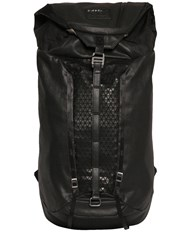 Diesel Coated Denim And Rubberized Print Backpack