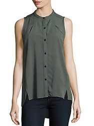 Ck Calvin Klein Hi Lo Sleeveless Shirt Serpent Green
