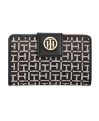 Tommy Hilfiger Th Serif Snap Wallet Black White