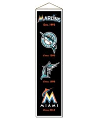 Winning Streak Miami Marlins Heritage Banner Team Color