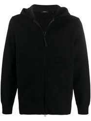 Theory Double Hoodie Black
