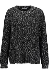 Sandro Stef Boucle Sweater Black