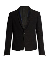 Haider Ackermann Curare Single Breasted Wool Dinner Jacket Black Multi