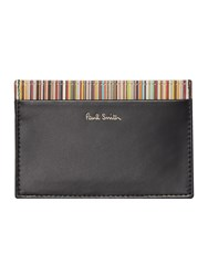 Paul Smith London Internal Multi Stripe Card Holder Black
