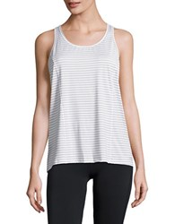 Calvin Klein Striped Performance Tank Top Stone Combo
