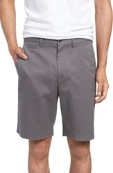 Nordstrom Big And Tall Men's Shop Smartcare Tm Flat Front Shorts Grey Tornado