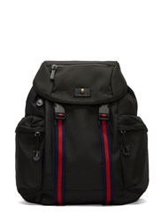 Gucci Zaino Striped Webbing Strapped Backpack Black
