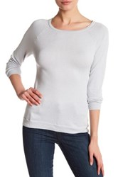 Kier And J Long Sleeve Crew Neck Tee Metallic
