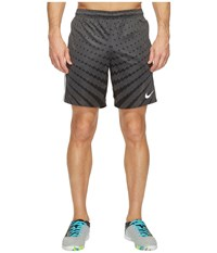 Nike Dry Squad Soccer Short Anthracite Black White Metallic Silver Men's Shorts Multi