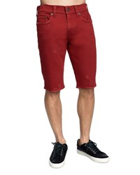 True Religion Ricky Straight Leg Denim Shorts Firecracker Red