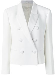 Neil Barrett Double Breasted Blazer White