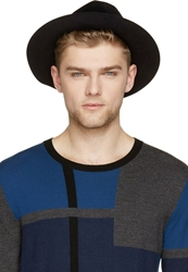 Burberry Black Rabbit Felt Round Hat