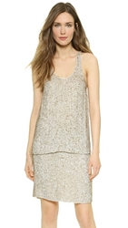 3.1 Phillip Lim Sequin Racer Tank White Gold