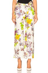 Etro Belted Printed Trousers In Floral White Floral White