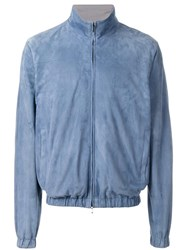Loro Piana Light Travel Bomber Jacket Blue