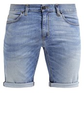 Sisley Denim Shorts Bleached Light Blue Denim