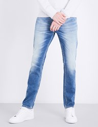 Calvin Klein Skinny Tapered Mid Rise Jeans Twister Blue