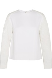 Helmut Lang Matelasse And Wool Jersey Sweatshirt