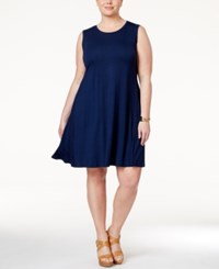 Styleandco. Style And Co. Plus Size Swing Dress Only At Macy's Ink