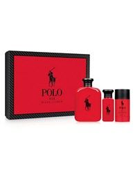 Ralph Lauren Red Three Piece Set 143.00 Value No Color