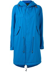 Mr And Mrs Italy Hooded Parka Coat Blue