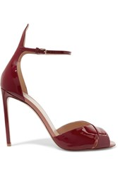 Francesco Russo Patent Leather Sandals Burgundy