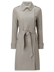 John Lewis Tailored Zipper Trench Coat Dark Grey