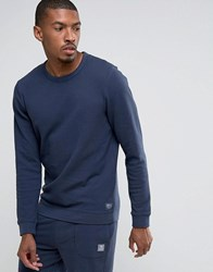 Tom Tailor Sweatshirt In Structured Jersey Navy