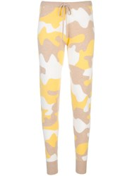 Madeleine Thompson Camouflage Knitted Joggers Neutrals