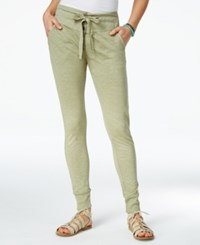 Roxy Juniors' Endless Highway Cotton Skinny Jogger Pants Oil Green
