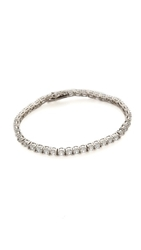 Kenneth Jay Lane Round Cz Tennis Bracelet Clear