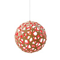 David Trubridge Coral Light Natural Red 100Cm