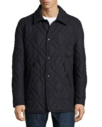 Andrew Marc New York Stafford Diamond Quilted Jacket Gray