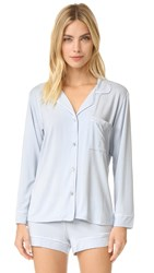 Eberjey Gisele Long Sleeve Pj Set Water Blue