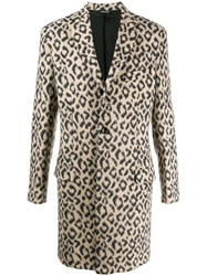 Lc23 Animal Print Coat Neutrals