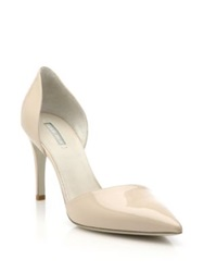 Giorgio Armani Patent Leather D'orsay Pumps Nude