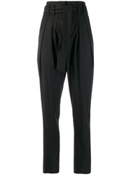 Iro High Waisted Tapered Trousers Grey