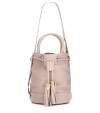 See By Chloe Vicki Large Leather Bucket Bag Neutrals