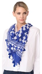 Kate Spade New York Lantern Square Scarf Cobalt Blue