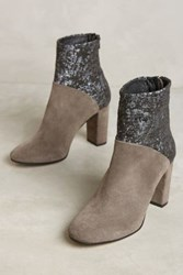 Anthropologie Cubanas Ciara Glitter Booties Grey Moon