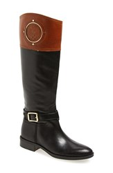 Women's Vince Camuto 'Phillie' Tall Riding Boot Black Russet Leather