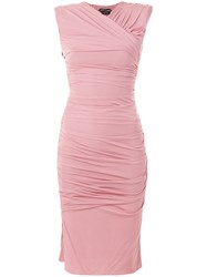 Tom Ford Fitted Midi Dress Pink And Purple