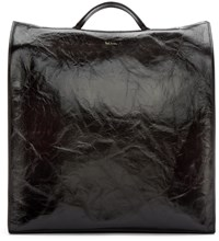 Paul Smith Black Leather Catwalk Tote Bag