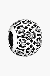 Pandora Design 'Intricate Lace' Bead Charm Sterling Silver Clear Cz