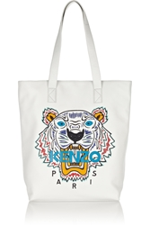 Kenzo Tiger Embroidered Leather Tote