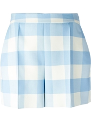 Oscar De La Renta Plaid Shorts