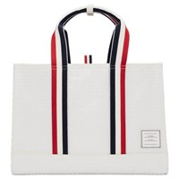 Thom Browne White Bubble Wrap East West Tote