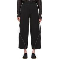 Y 3 Black Stripe Wide Lounge Pants