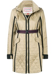 Hunter Quilted Hooded Coat Green