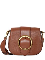 Polo Ralph Lauren Leather Crossbody Bag Camel